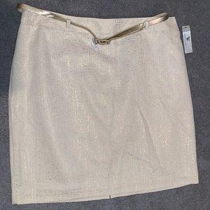 Ivory gold skirt size 18
